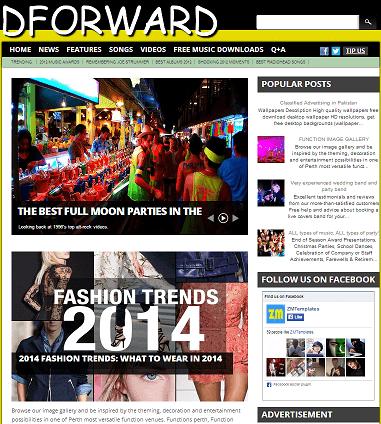 Template Blogspot Dforward cho bạn trẻ cá tính
