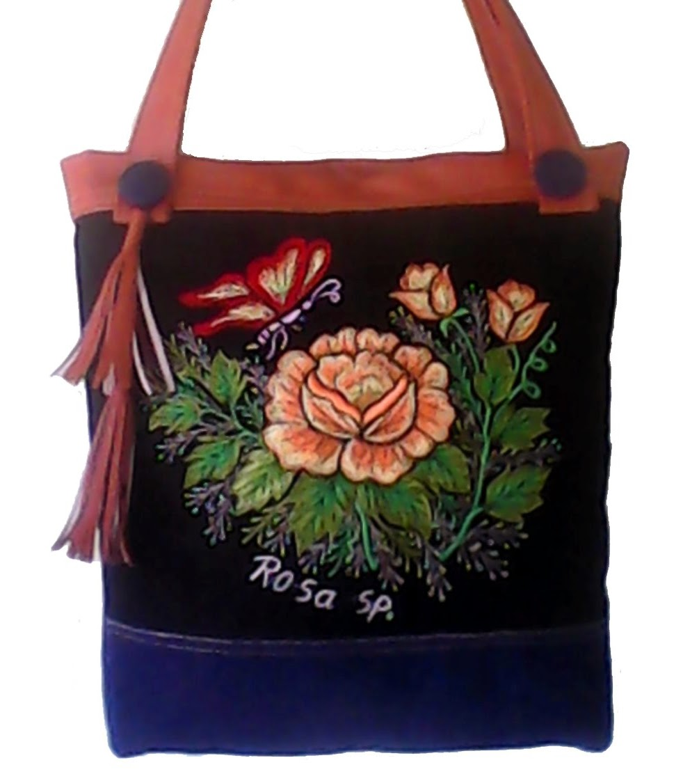 orang rose embroidery