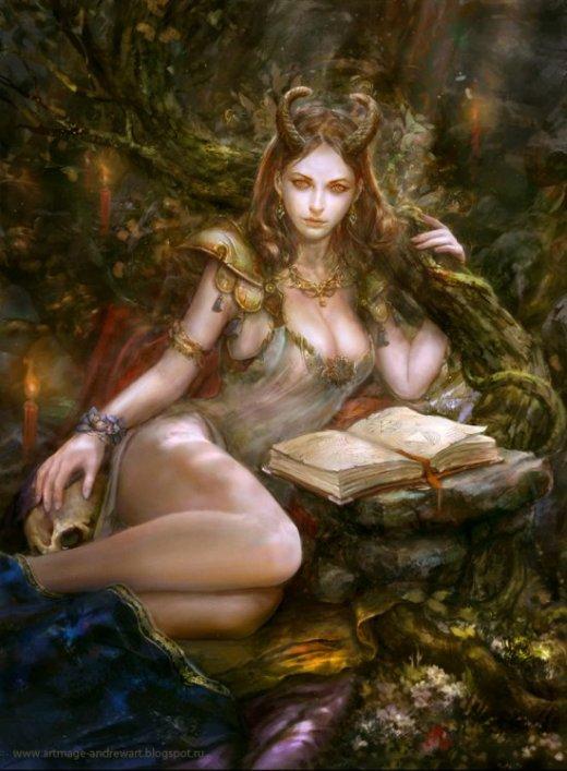 Andrey Vasilchenko deviantart ilustrações fantasia medieval sombria rpg