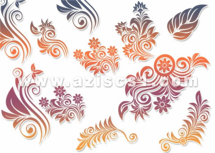 Brush Floral Mix pelengkap desain Banner dan undangan wedding