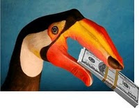 tucano ladrao alckmin dinheiro no bico