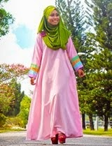 QISTINA Pastel Jubah Dress