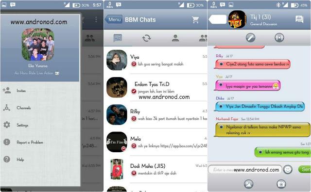 BBM Mod Tema iOS Iphone 6 v2.9.0.49 apk