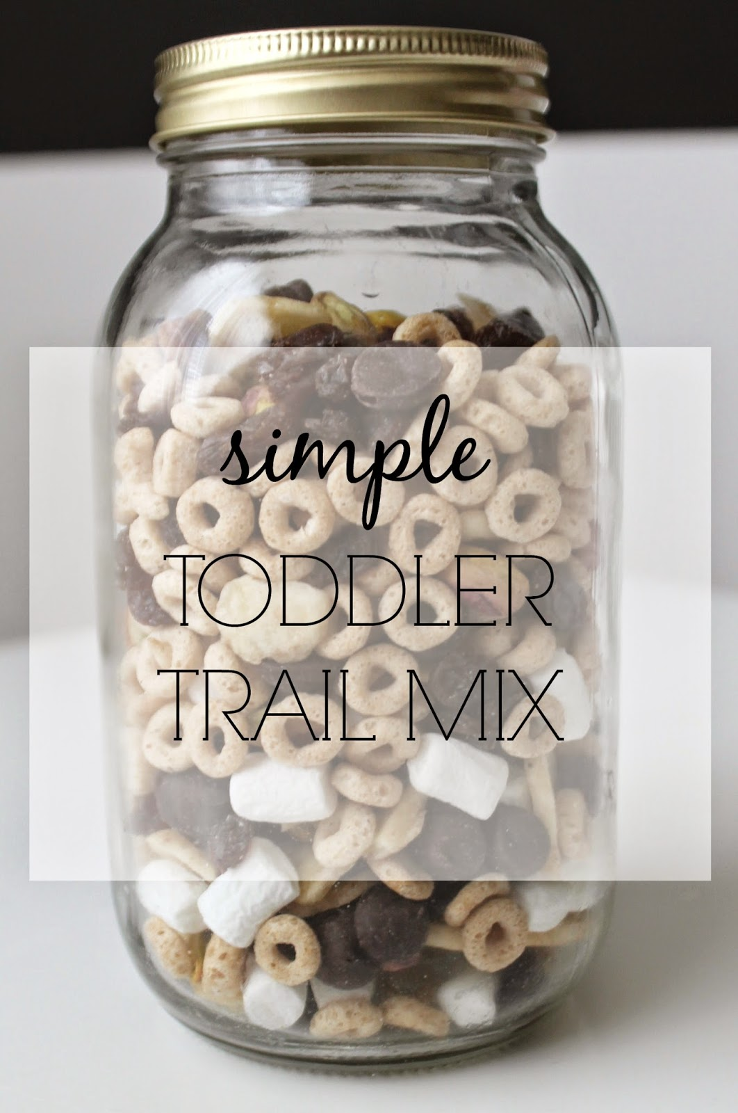 Simple Toddler Trail Mix | bubbles and gold