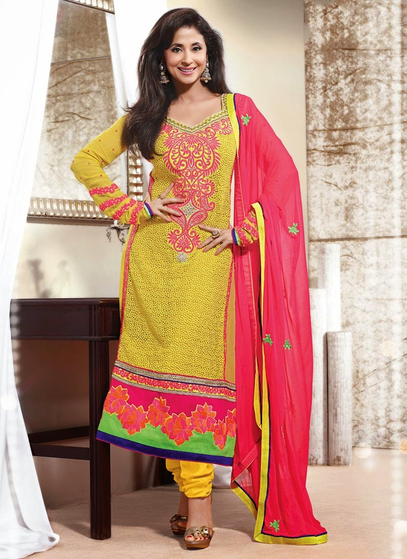 Dazzling Urmila Matondkar Long Salwar Kameez Suits