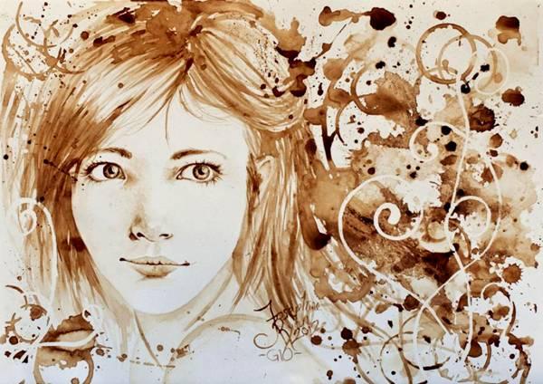 الرسم بمشروب القهوة Coffee Paintings image042-789485.jpg