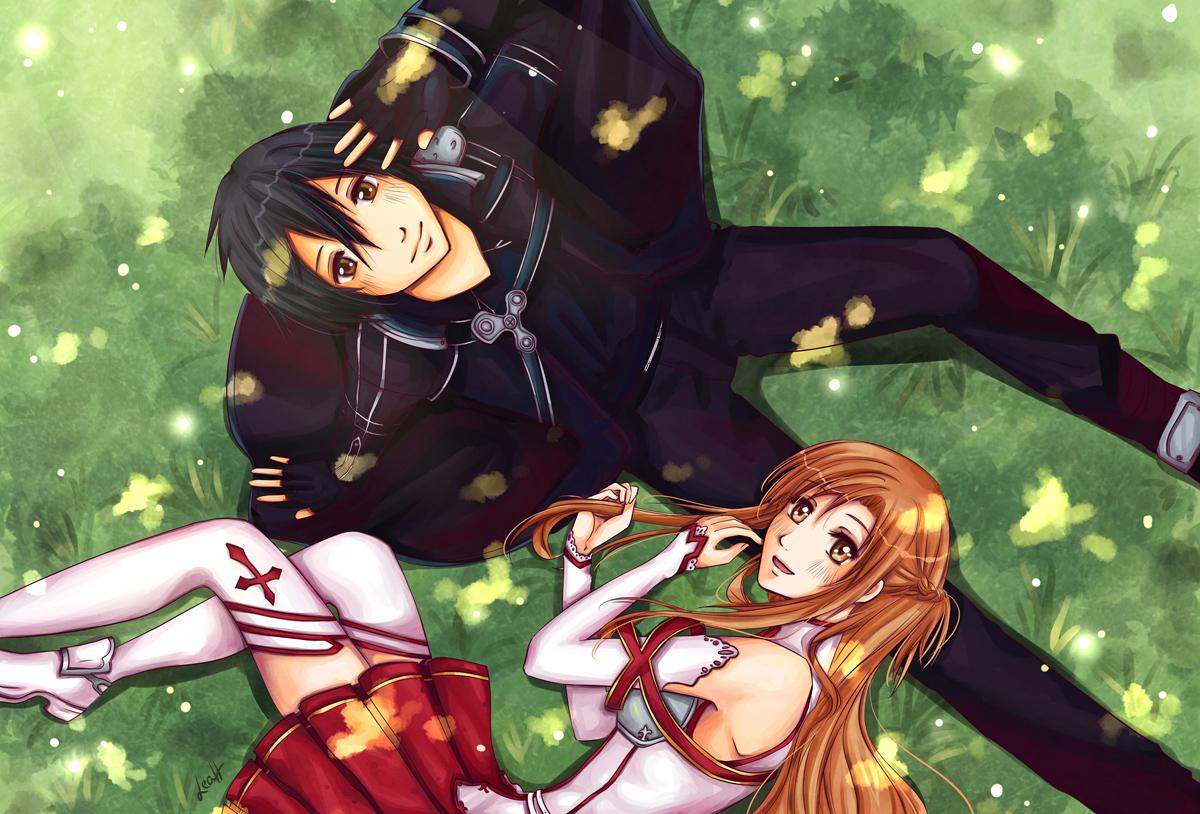 Kirito asuna sword art online alfheim online wallpaper 5b www
