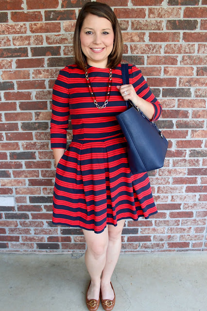 Gap Striped Dress The Peacock Roost Office Style