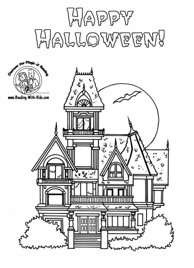 Luigi haunted mansion coloring page coloring pages for Coloring pages of haunted houses