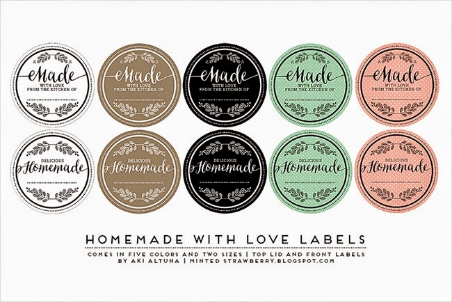 Free Printable Another Mason Jar Label Minted Strawberry - Mason jar label template