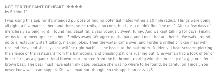 tinder app review