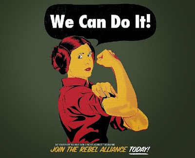 we can do it join the rebel alliance today feminism star wars leia organa guerra galaxias femisnismo feminist