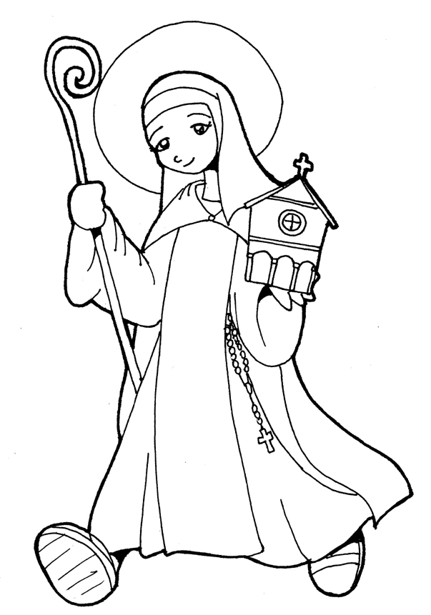 patron saint coloring pages - photo#15