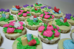 GARDEN CUPCAKE + STEAM BUTTER CREAM