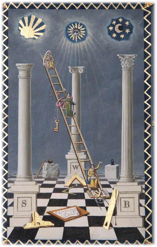 Simbolog as la escalera que comunica con el cielo en la for La escalera de jacob