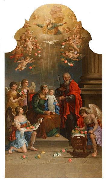 Pintura de la virgen María, nombre original Slovenščina: Marijino Rojstvo que traduce Nacimiento de la Virgen María en Esloveno
