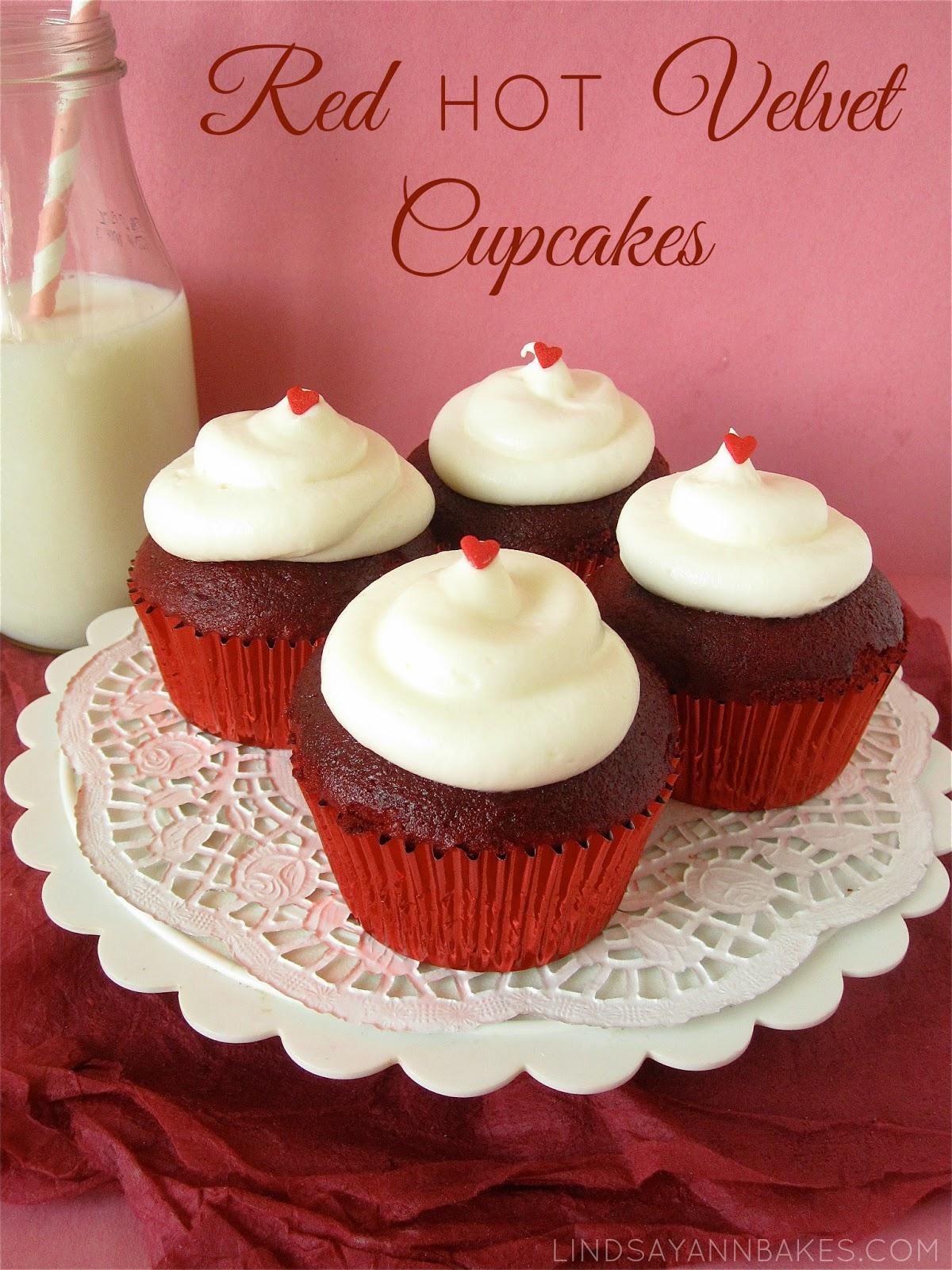 fun red velvet cupcakes