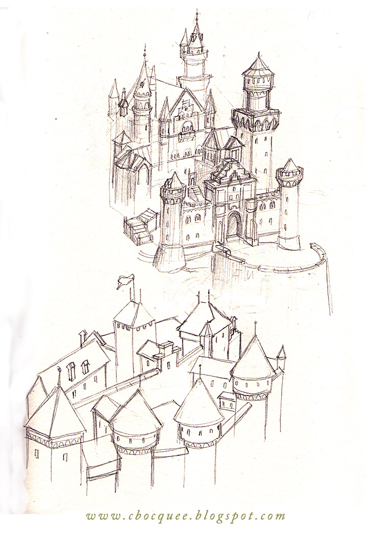 sketchbook castle drawings