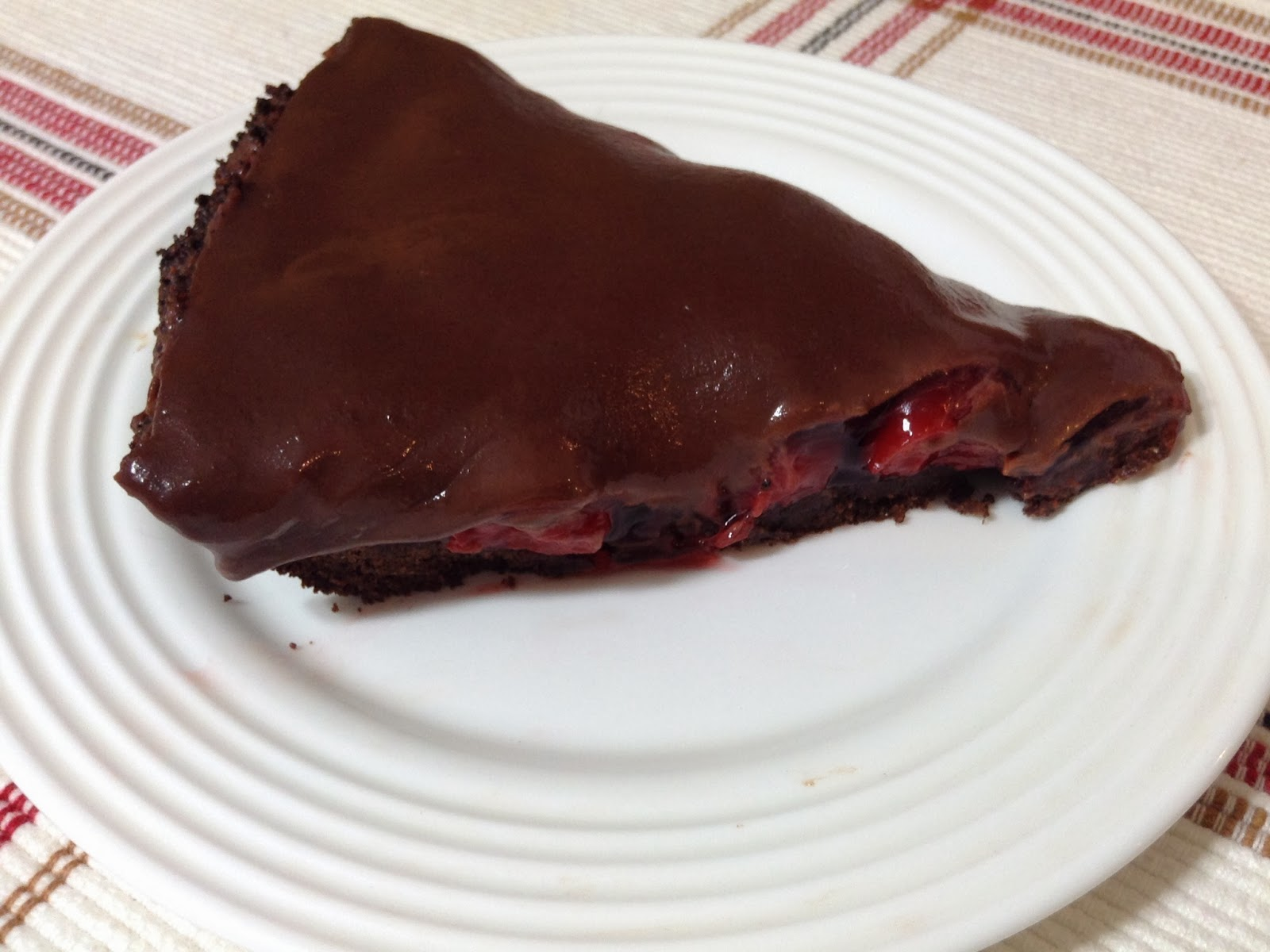 Laura's Baking Talent: Chocolate Cherry Ganache Pie