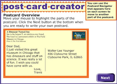 Readwritethink - Postcard Creator
