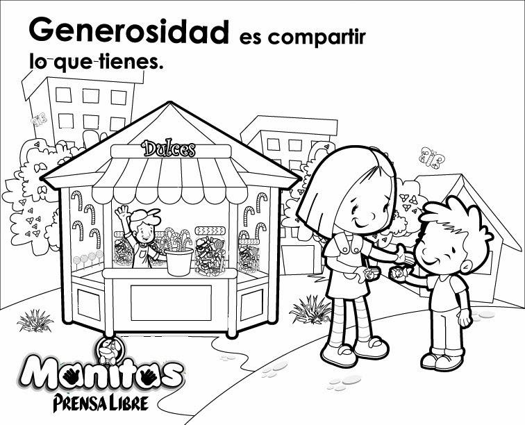 Dibujos para colorear sobre la generosidad - Imagui