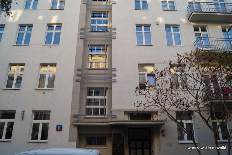 Warszawa Stary Mokotów kamienica kamienice ulica zabytek lata 30 Sigalin Gelbard Wierzbicki brama