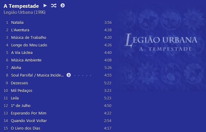 Legião Urbana - A Tempestade ou O Livro dos Dias - Album (iTunes Match M4A) - 1996 Legitempestadelista