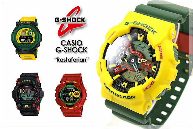 Watches For Men - Casio G-Shock Rastafarian Collection