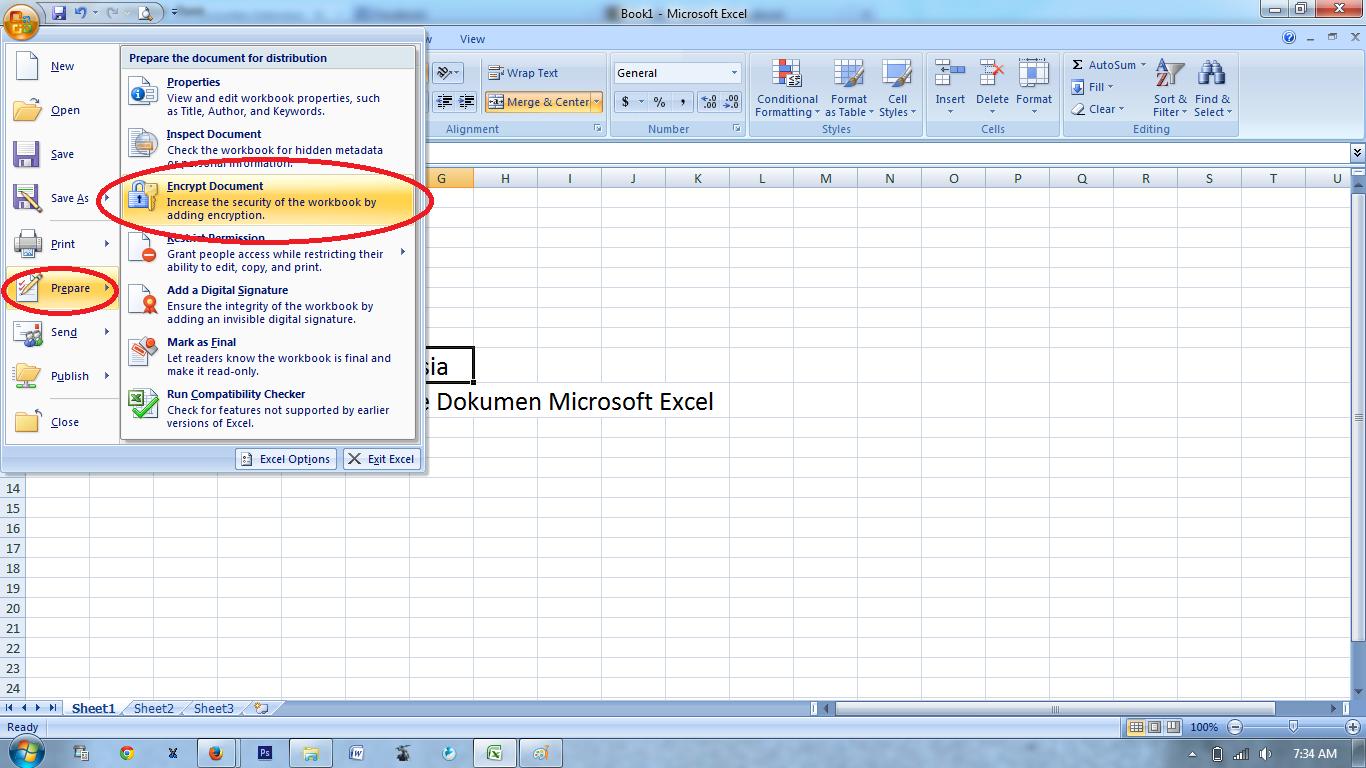 Как сделать пароль на файле excel 753