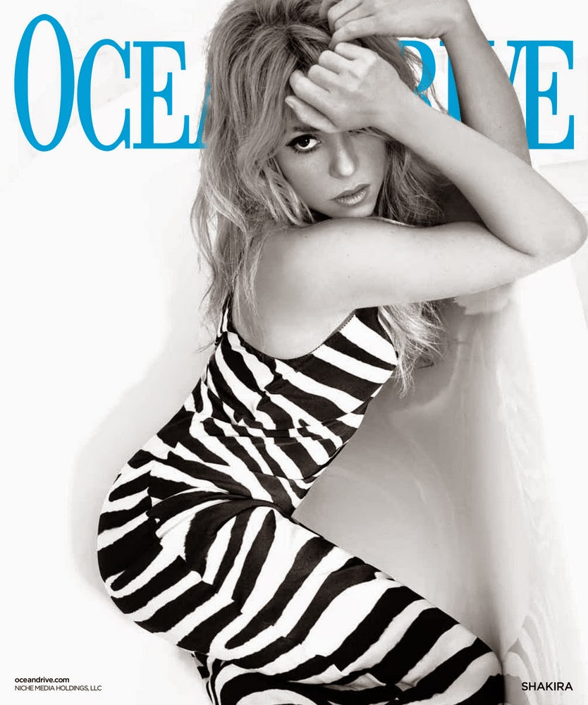 "Shakira Covers Ocean Drive Magazine's May/June ""Women of Influence"" Issue"
