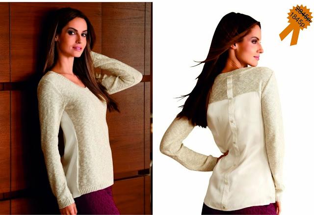 Пуловер с атласной планкой на спине с пуговицами от Amy Vermont Wenz