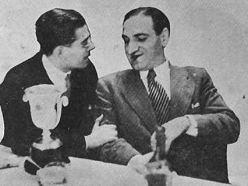 Los ajedrecistas Antonio Medina y José Sanz