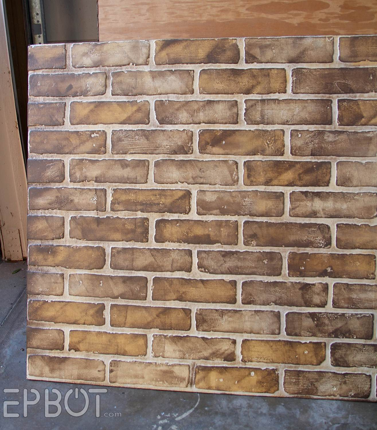 Epbot diy faux brick painting tutorial for Bricks painting design