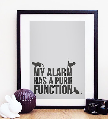 poster: My alarm has a purr function