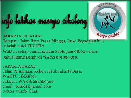 Info Latihan Silat