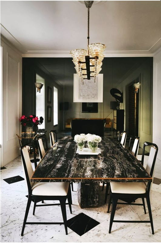 A seductive london house for Q dining room london