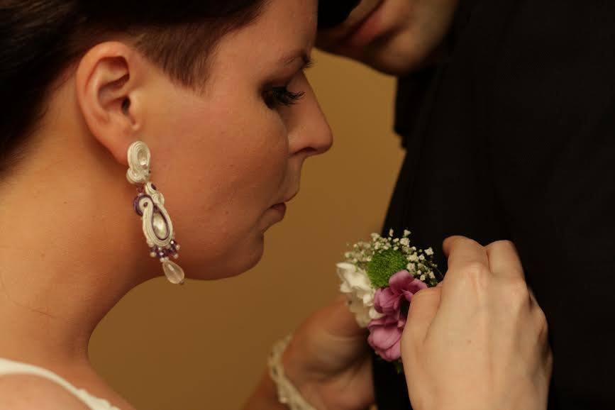 sutasz ślubny ivory i fiolet