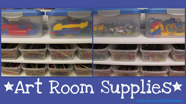 photo of: Art Room Supplies (via Art Room RoundUP via RainbowsWithinReach)