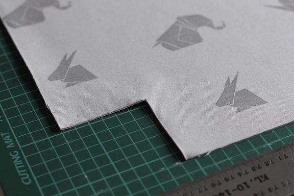 Ro Guaraz · bolsa origami · 16 · cortar base