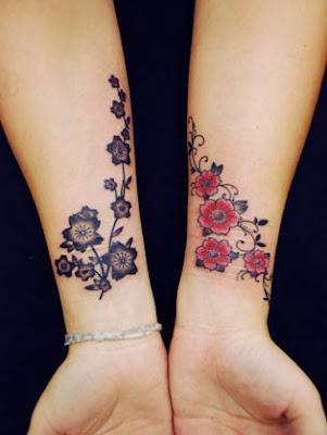 Tattoos femininas no braço