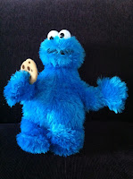 Cookie Monster, our daughter's new favorite toy