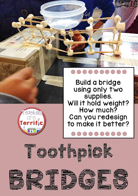STEM Bridges with toothpicks