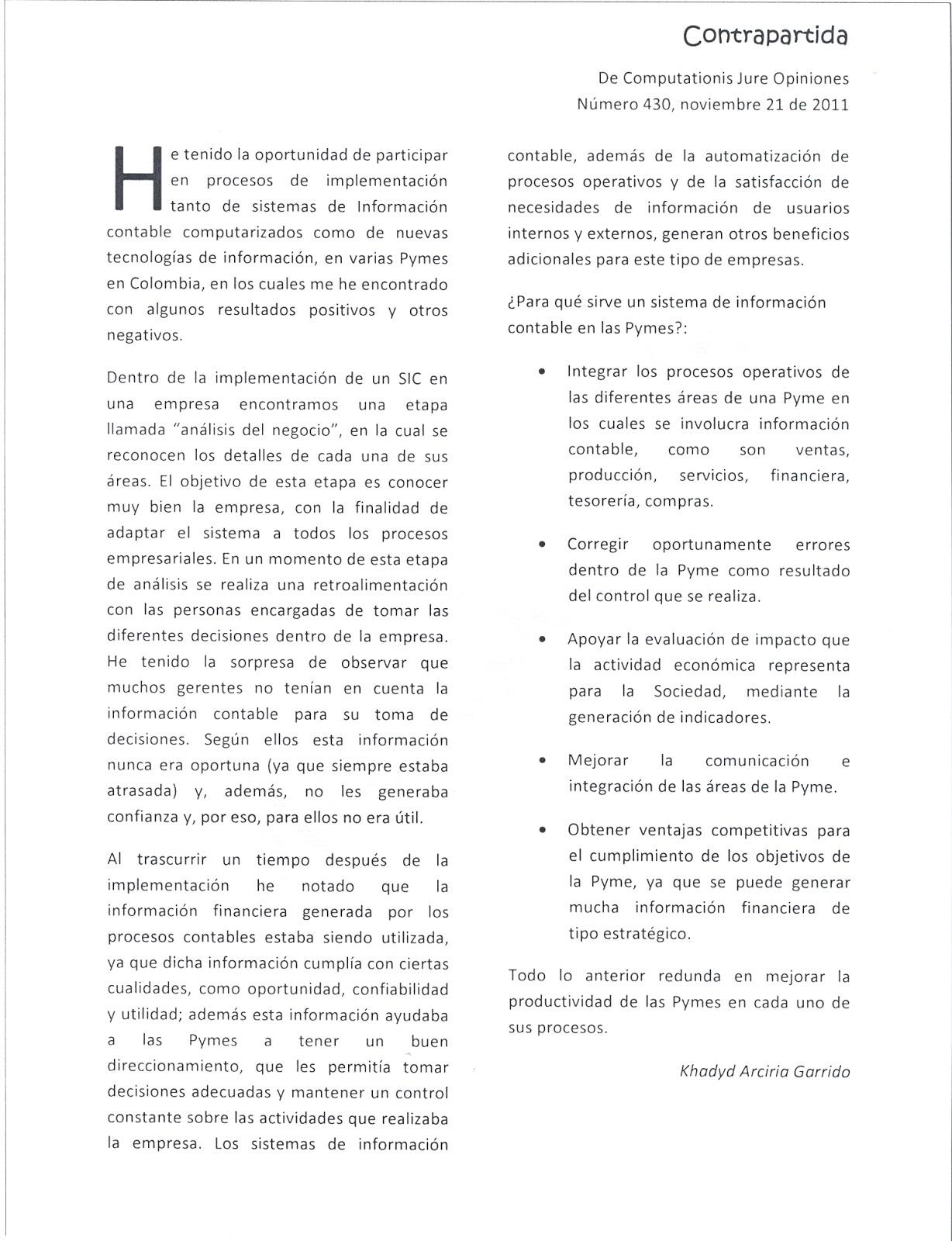 Sistemas de Información Contable - Diana Carolina Vargas - U. Javeriana