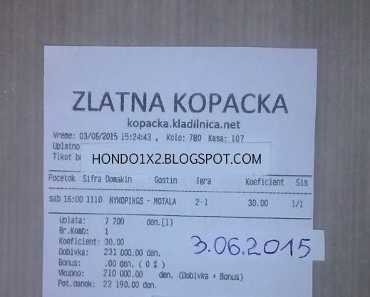 WIN TICKET FROM YESTERDAY 03.06.2015