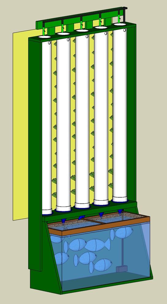 Aquaponics commercial aquaponics hydroponics grow for Vertical planting system