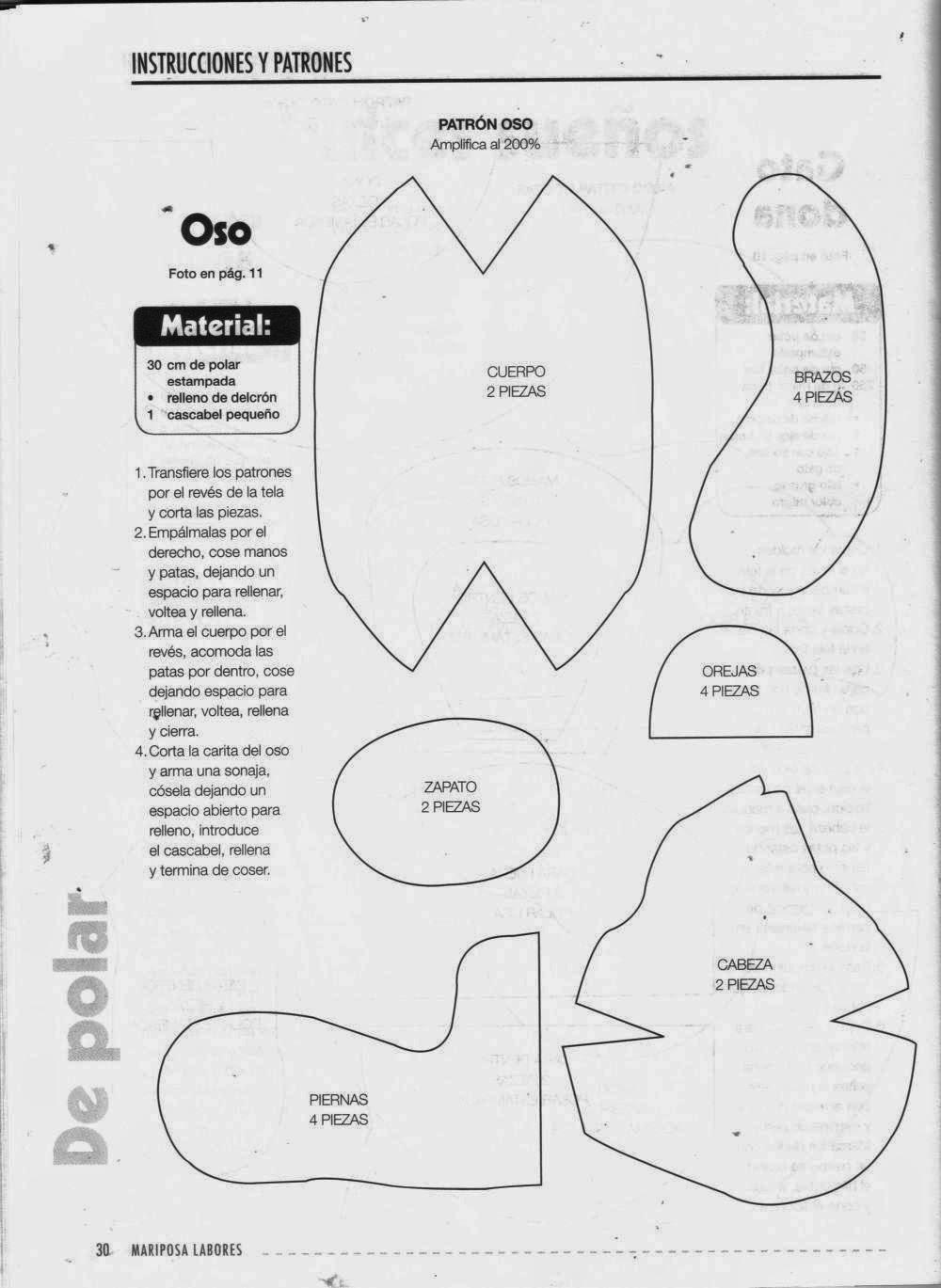 como hacer peluches - Revistas de manualidades gratis