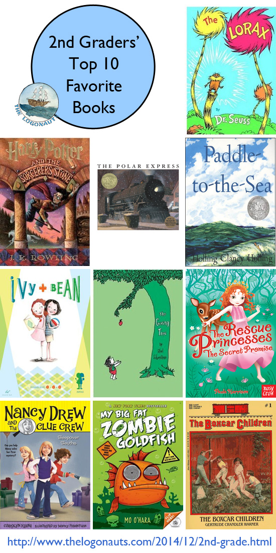 Top 10 Favorite Books Of Second Graders The Logonauts