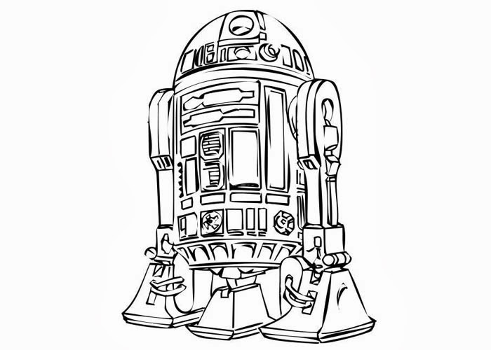 R2D2 coloring pages Free Coloring Pages and Coloring Books for Kids