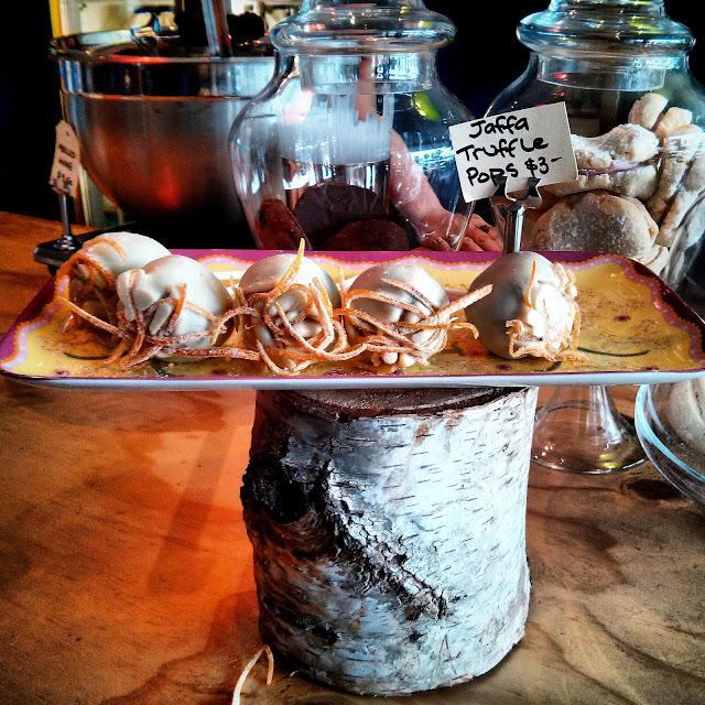 Jaffa truffle pops