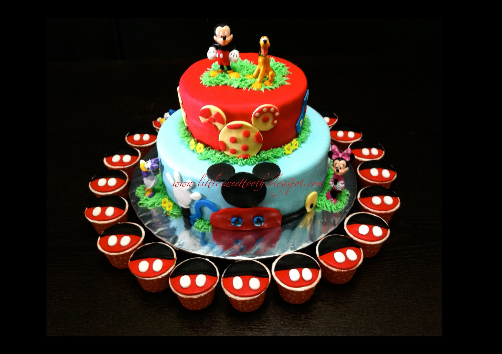 Little Sweet Tooth Mickey Mouse 2 Tier Cake